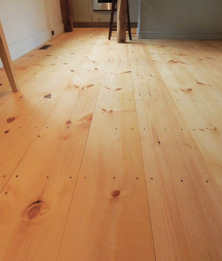 Wide Pine Plank Floors Shiplap Ca To