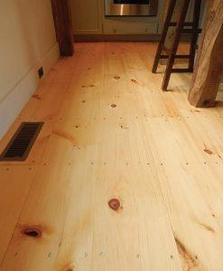 Wide Plank Pine Flooring Newly Sawn