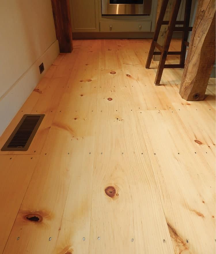 Wide Pine Plank Flooring