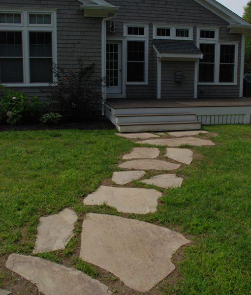 irregular bluestone flagging walkway Nantucket