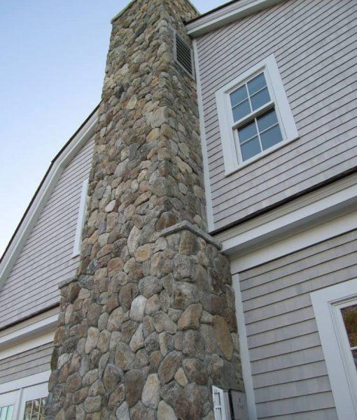 round stone veneer