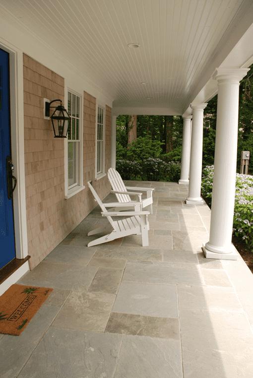 cleft bluestone pavers variegated patio