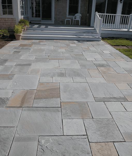 bluestone varigated walkway pavers Nantucket, Cape Cod MA