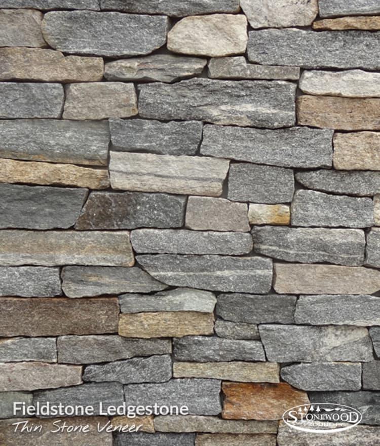 Ledgestone veneer natural thin stone fieldstone thin for Installing stone veneer over wood