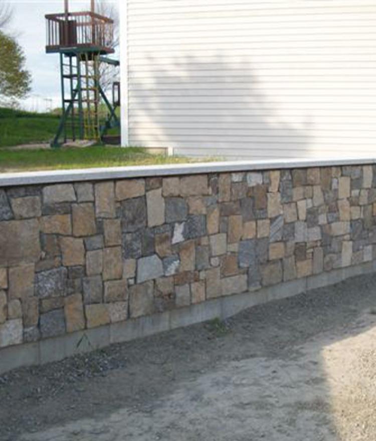 Natural Stone Veneer Fieldstone Square + Rectangle Wall
