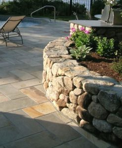 ct fieldstone wallstone wall