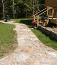 granite-flagging-ticonderoga-irregular-pavers-walkway-Cape-Cod-MA
