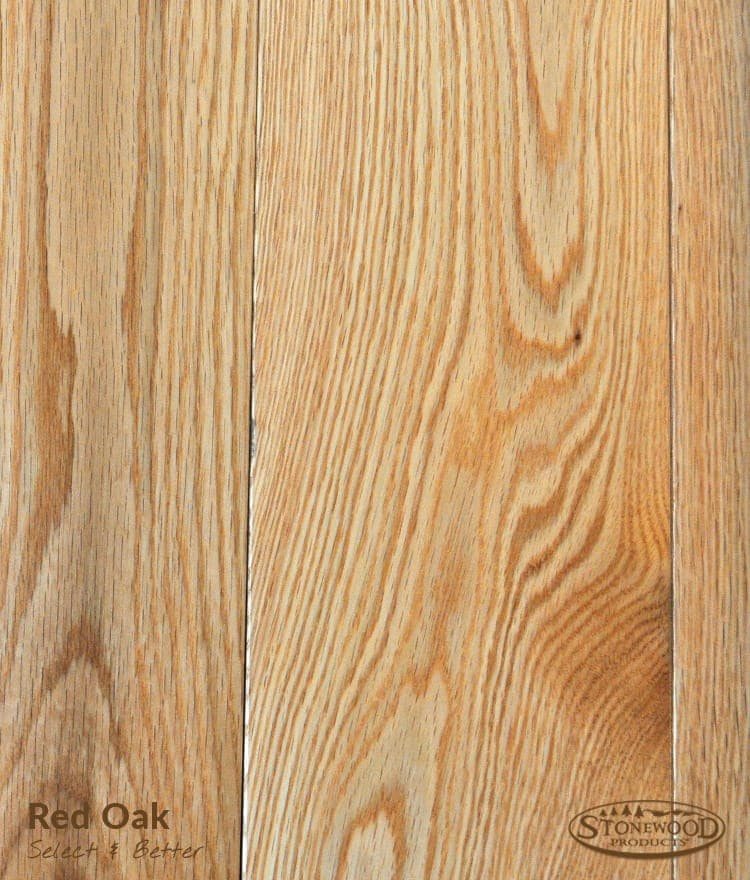 Red oak flooring hardwood floors unfinished for Red oak hardwood flooring