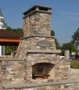 ledgestone-fireplace