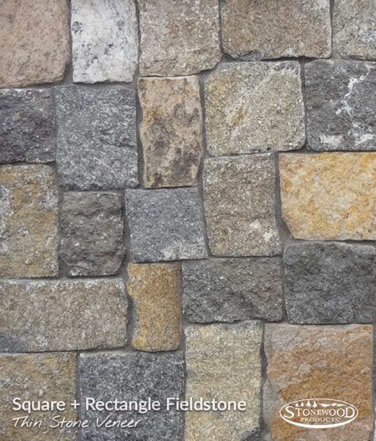 Natural Stone Veneer Fieldstone Square Rectangle