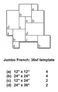 Jumbo French Pattern Thermal Bluestone