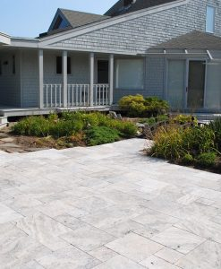 silver travtertine pavers