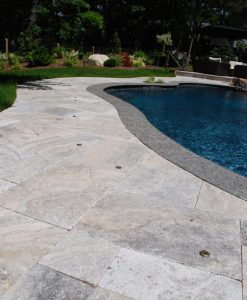 silver travertine pool