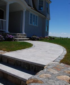 sterling travertine walkway