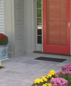 brownstone pavers walkway
