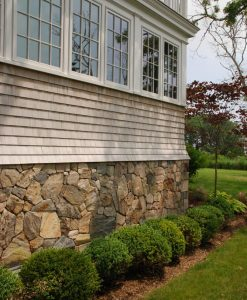 stone veneer foundation