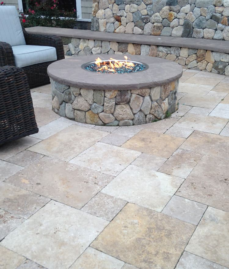 Travertine Stone Stair Treads Travertine Pavers Pools Patio Landscape Stone  Cape Cod Ma