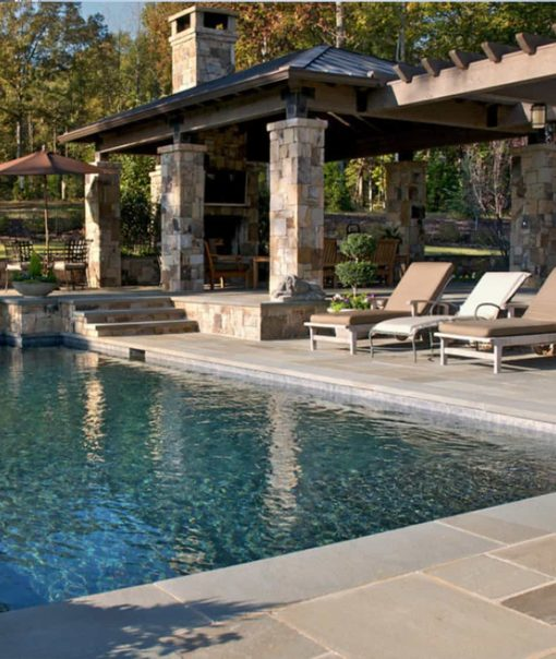 bluestone surrounding pool