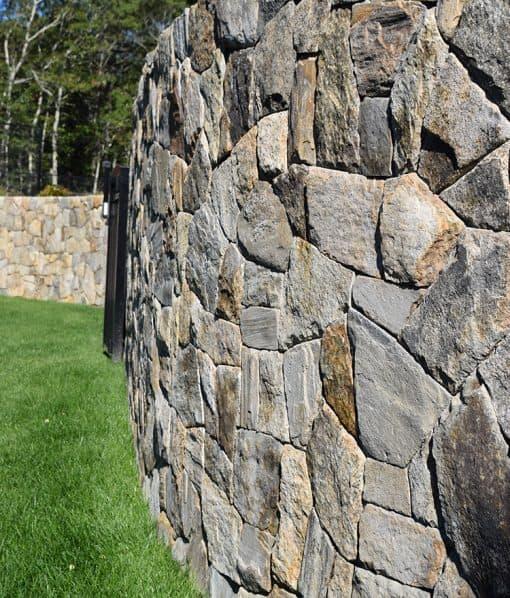 Thin Stone Veneer Fieldstone Mosaic Wall