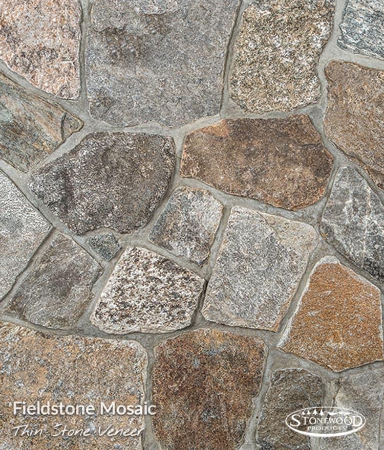 Fieldstone Mosaic Thin Stone Veneer Fireplaces Firepits
