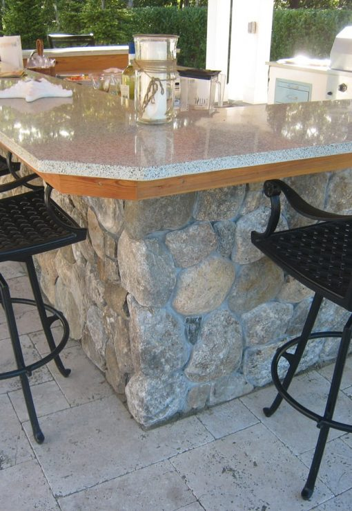 stone veneer outdoor kitchen cape cod