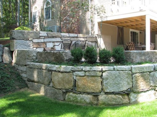 antique granite wallstone