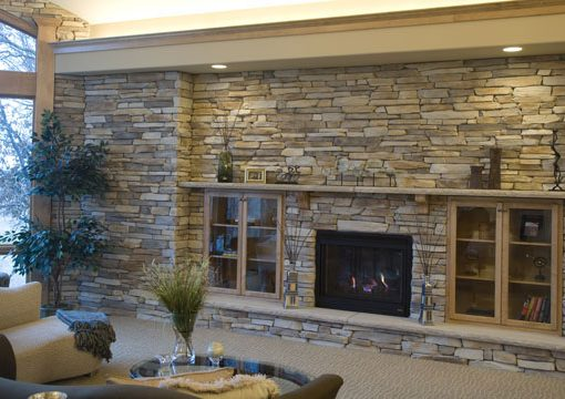 montana ledge suede gray fireplace