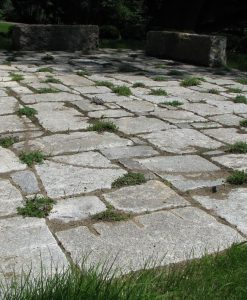 antique granite pavers patio