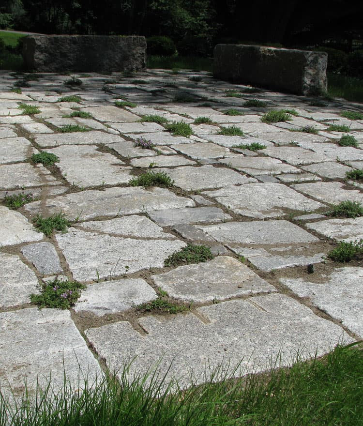 Granite Cobblestone Pavers : Antique reclaimed granite pavers cape cod south boston ma