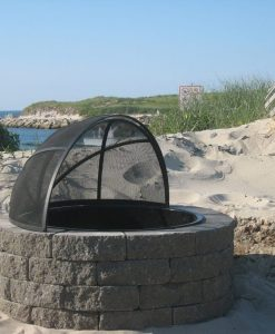 fire pit with spark screen Dennis Beach Cape Cod MA