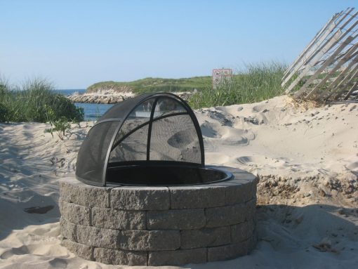fire pit with spark screen Dennis Beach Cape Cod MA
