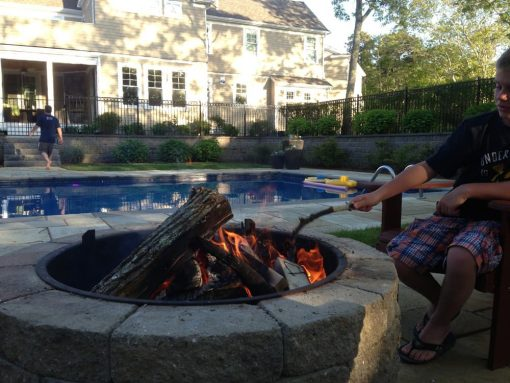 stone fire pit kit wood burning pool barnstable ma