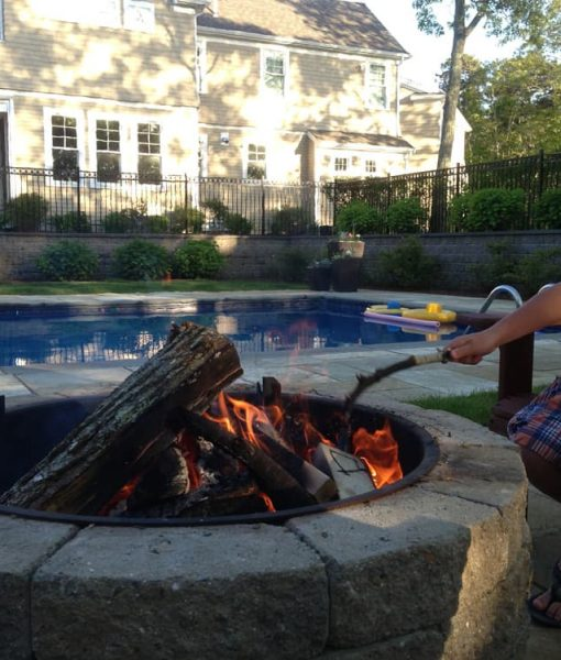 stone fire pit kit wood burning pool barnstable ma