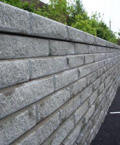 granite gray classic retaining wall