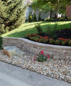 mini creta retaining wall