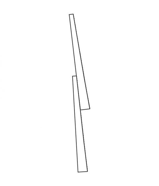 Side profile of Pine Clapboard Bevel Siding
