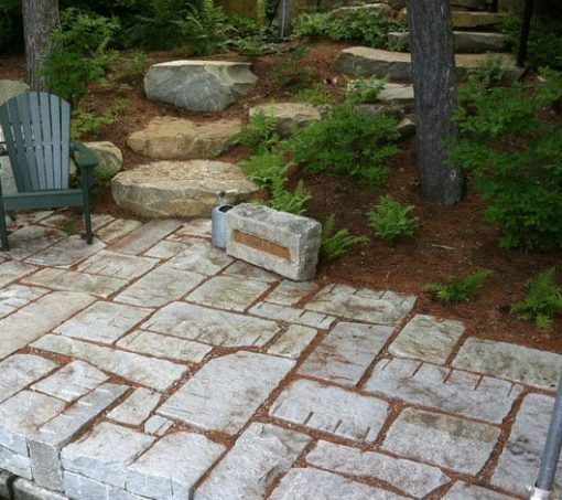 reclaimed granite patio