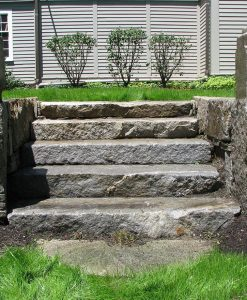 antique granite steps