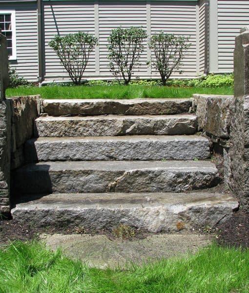 antique granite steps