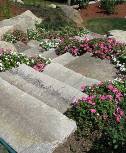 anitque granite steps walkway
