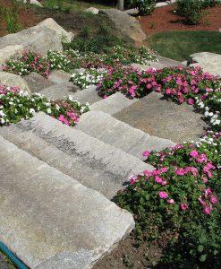 anitque granite steps walkway