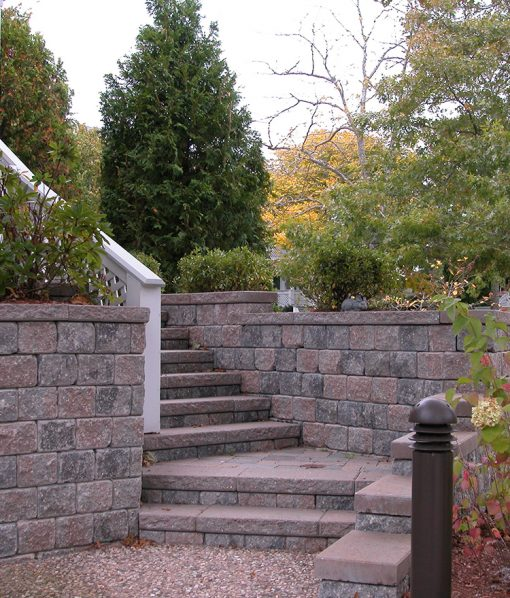 retaining wall rosewood blend