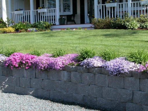 retaining wall stonewall capped granite