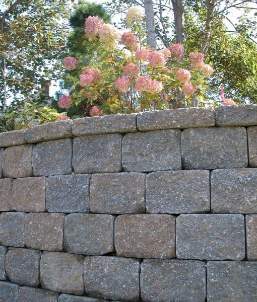 retaining wall tumbled stonewall vineyard blend