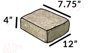 square fire pit kit modular stone dimensions