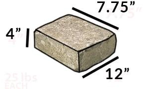 square fire pit kit modular stone dimensions