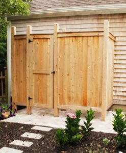 outdoor shower enclosure kit cedar deluxe