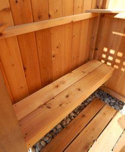 Cedar Shower Bench