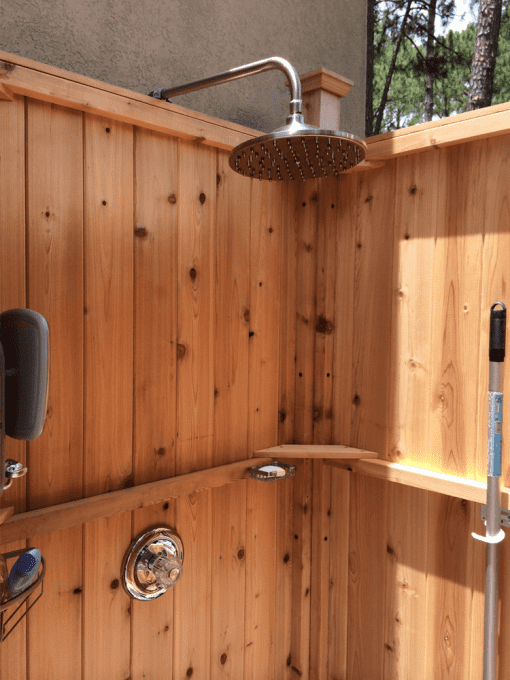 outdoor shower plans