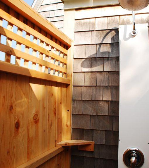 outdoor shower lattice